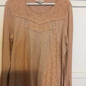 Style & Co Textured Long Sleeve Top